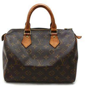 Auth Louis Vuitton Speedy 25 Hand Bag #3305L12